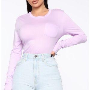 3/$35 FASHION NOVA   Lavender Long Sleeve